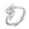 Mahi Glam Star Solitaire Ring With Swarovski Zirconia