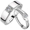 Mahi Valentine Gift Couple Ring Set With Cubic Zirconia And Crystal
