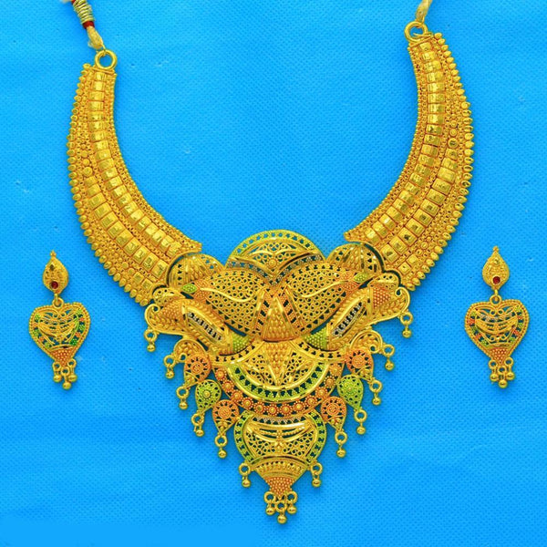 Mahavir Forming Gold Necklace Set - JAI SET 22 OXD