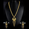 Mahavir Forming Look Gold Plated Long Necklace Set - KP SET SK 19