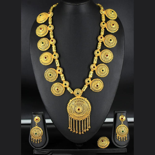 Mahavir Forming Gold Necklace Set - KR 6738 LONG SET