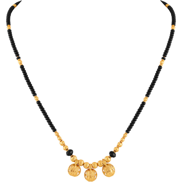 Asmitta Stylish Pattern Beads Mangalsutra
