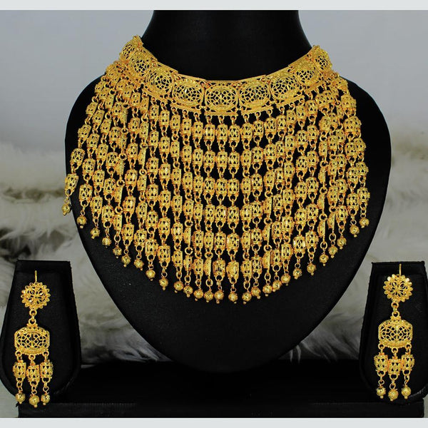 Mahavir Forming Gold Necklace Set - MARTASHA SET 5117