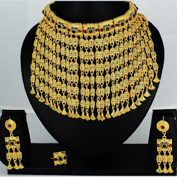 Mahavir Forming Gold Necklace Set - MARTASHA SET 7002