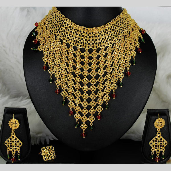 Mahavir Forming Gold Necklace Set - MARTASHA SET 7009