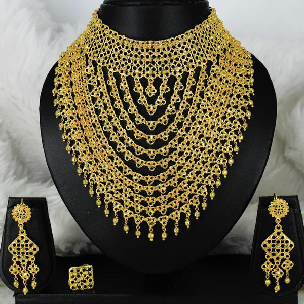Mahavir Forming Gold Necklace Set - MARTASHA SET 7020