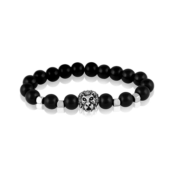 Asmitta Trendy Stylish Steel Beads Mens Bracelet