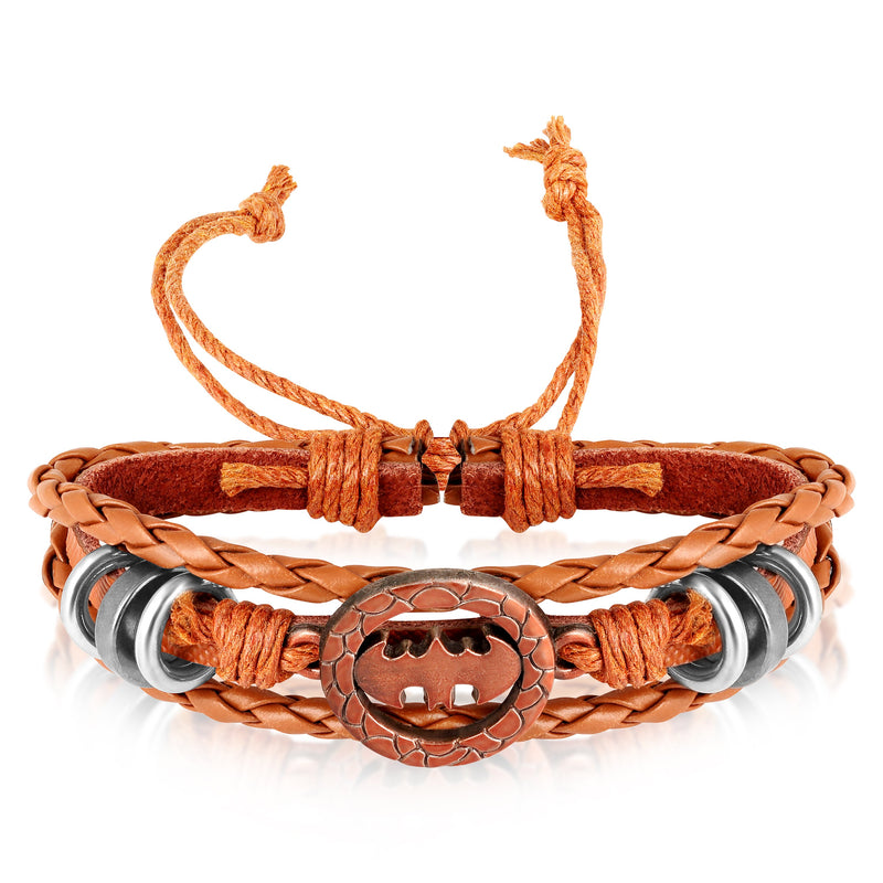 Asmitta Trendy Stylish Steel Leather Mens Very Attractive Bracelet