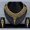 Mahavir Forming Look Gold Plated Stone Necklace Set - MJ SET 18
