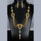 Mahavir Forming Look Gold Plated Stone Necklace Set - MJ SET 7