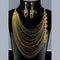 Mahavir Forming Look Gold Plated Multi Layer Necklace - MOH SET SS-15