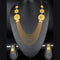 Mahavir Forming Look Gold Plated Multi Layer Necklace Set - MOH SS 20 SET