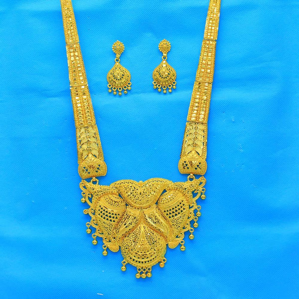 Mahavir Forming Look Gold Plated Long Necklace Set - MP 24 SET