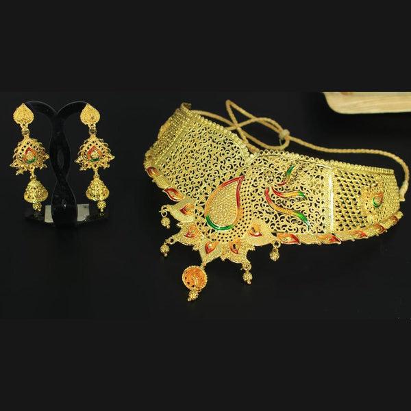 Mahavir Forming Gold Necklace Set - MP 43 OXD