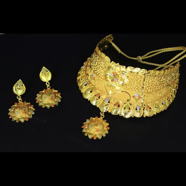 Mahavir Forming Gold Necklace Set - MP 44 OXD