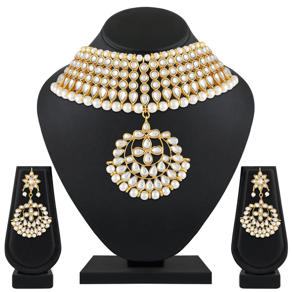 Asmitta Excellent Choker Gold Plated Necklace Set