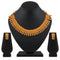 Asmitta Traditional wedding wear choker gold toned Necklace set for women