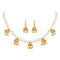 Asmitta Traditional Gold toned Pearl Choker Necklace set for women