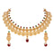 Asmitta Wedding wear Laxmi Coin design 18 K Gold Plated Bridal Choker Necklace Set