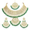Asmitta Gold Plated Stones Choker Stylish Necklace Set -NS802JMGLDHI0