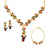 The99Jewel Gold Plated Stone Necklace Set With Bracelet