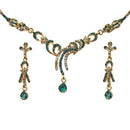 The99Jewel Blue Austrian Stone Gold Plated Necklace Set