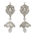 Kriaa Austrian Stone Crystal Drop Gold Plated Jhumki Earrings