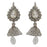 Kriaa Austrian Stone Rhodium Plated Jhumki Earrings