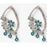 Kriaa Austrian Stone Rhodium Plated Dangler Earrings