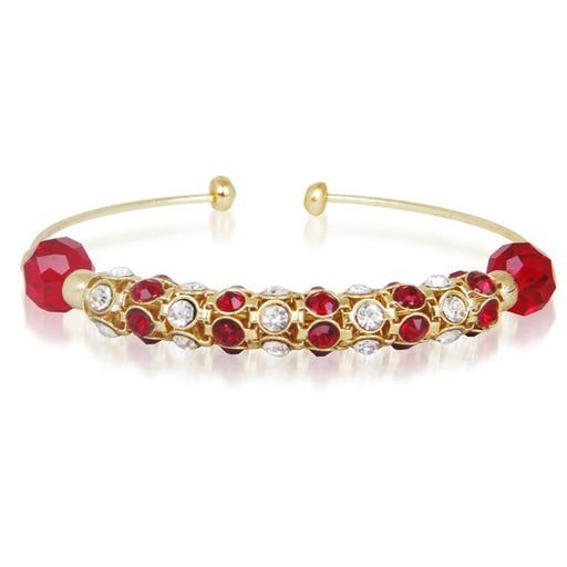 Kriaa Red Austrian Stone Gold Plated Kada