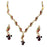 The99jewel Maroon Meenakari Austrian Stone Necklace Set