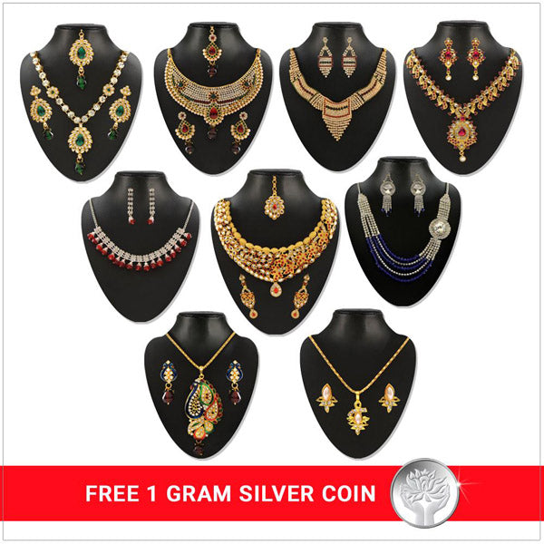 14Fashions Set Of 9 Combo With Free Silver Coin