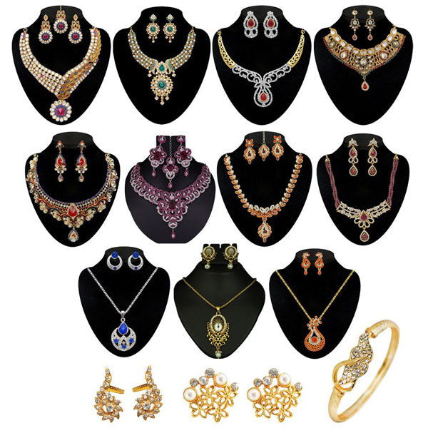 14Fashions Set Of 14 Jewellery Combo