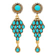 14Fashions Blue Beads Austrian Stone Dangler Earrings