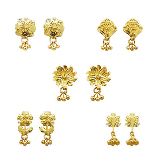 14Fashions Set Of 5 Forming Look Stud Earrings Combo