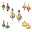 14Fashions Set Of 5 Earrings Combo