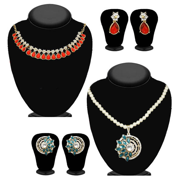 14Fashions Set of 2 Necklace Combo