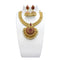 Utkrishtt Gold Plated Pink Pota Stone Copper Necklace Set