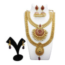 Utkrishtt Gold Plated Pota Stone Copper Necklace Set