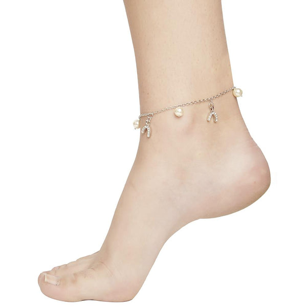 Mahi Alluring Anklet with Artificial Pearl