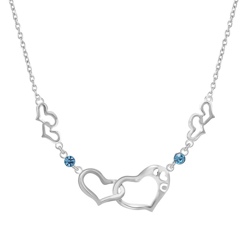 Mahi Dual Heart Link Necklace