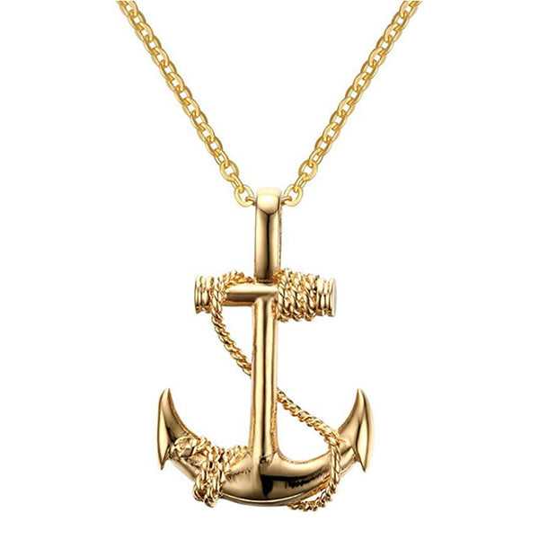 Mahi Gold Plated Exclusive Anchor Unisex Pendant Ps1101697G