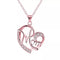 Mahi Rose Gold Plated Dual Heart Pendant For Mom With Crystal Stone