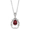 Mahi Valentine Exclusive Solitaire Red Swarovski Crystal Pendant