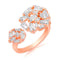 Asmitta Infinity Loves CZ Finger Ring Brass Cubic Zirconia Gold Plated Ring
