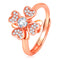 Asmitta Stylish Flower Shape Rose Gold toned American Diamond Stone Finger Adjustable Ring For Women