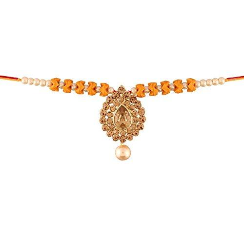 I Jewels Designer Lumba Rakhi for Bhabhi  ( R611-L)