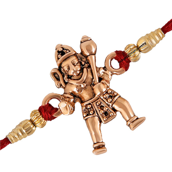 Mahi Rose Gold Plated Jai Hanuman Rakhi (Bracelet) for beloved brothers RA1100604Z