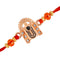 Mahi Rose Gold Plated Lord Tirupati Balaji Rakhi with crystal stones