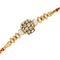 Mahi Gold Plated Exclusive Gleaming Crystals Rakhi Bracelet for Beloved Brother/Bhaiya
